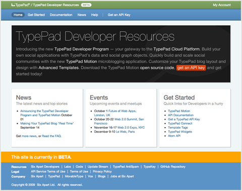 TypePad Developer