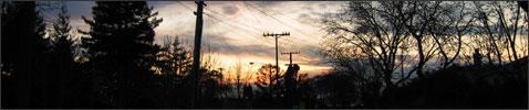 Sunset in Berkeley, CA.