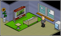 My room at the Habbo Hotel.