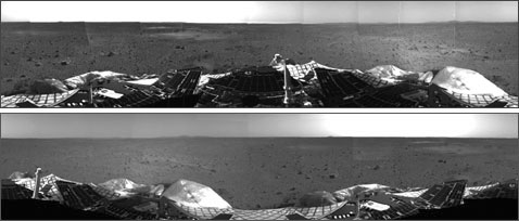 The first images from the Spirit rover.