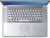 The new 15-inch aluminum PowerBook G4.
