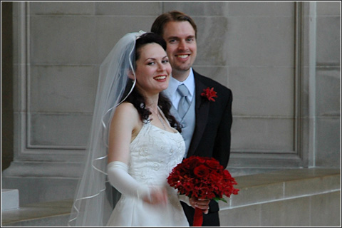 Rob and Irene on their wedding day.